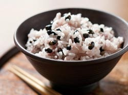 black soybeans and rice