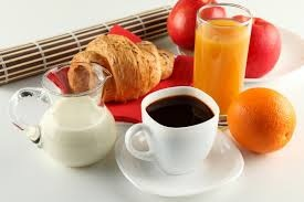 coffee and fruits