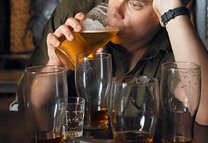 Man with high alcohol tolernace