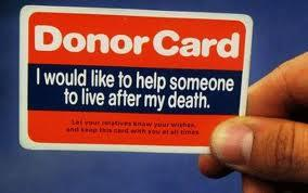 The anonymous donor card.