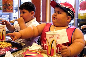 fat kids eating