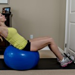 gym ball sit-ups