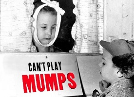 kid with mumps