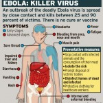 Ebola symptoms graphic