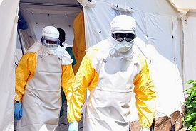 suits as guards against ebola virus