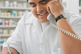 pharmacist taking prescription order